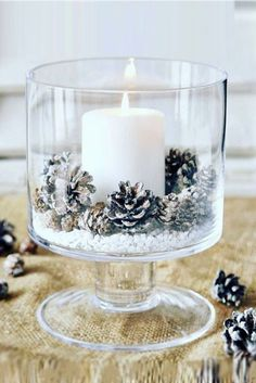 candle in glass canister
