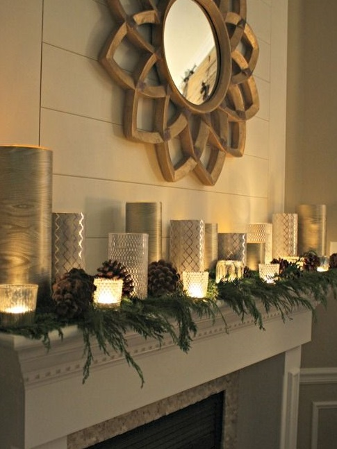 candles on mantle